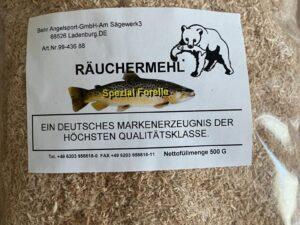 Räuchermehl Spezial Forelle, 500g Buche Fein