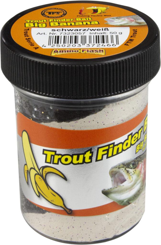 FTM Trout Finder Bait Big Banana schwarz-weiß