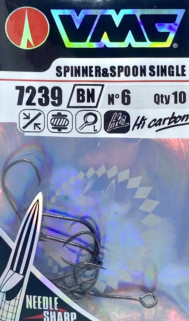 VMC -7239BN-Einzelnhaken für Spinner & Spoon