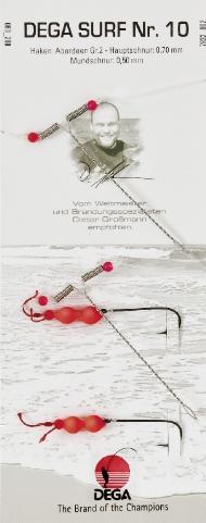 Brandungsvorfach DEGA -Surf 10 Butt, Dorsch