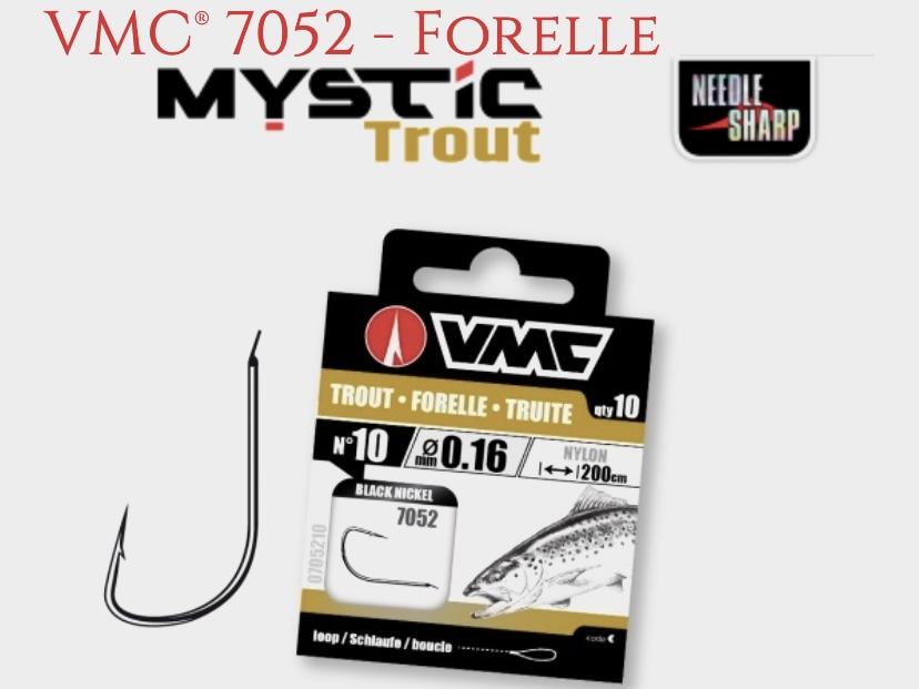 VMC 7052 Trout Sbirolino Black Nickel  200 cm Gr6