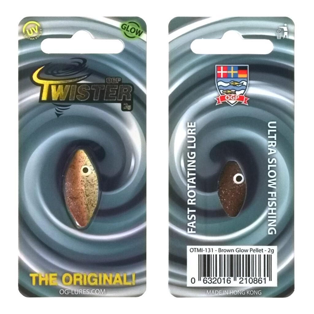 OGP Twister Brown glow/Pellet