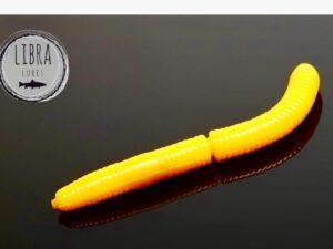 FATTY D`WORM 65mm von LIBRA LURES Dark Yellow