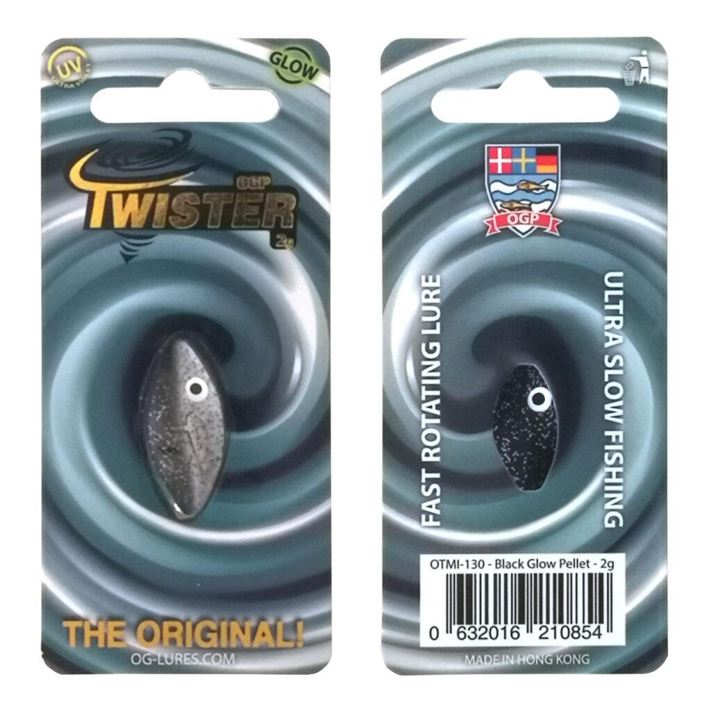 OGP Twister Black glow/Pellet
